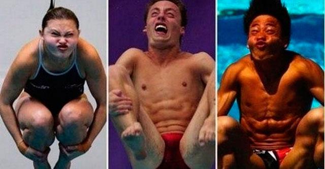 Смешные лица спортсменов