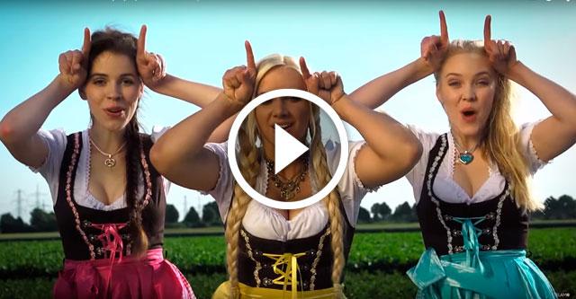 Веселая песенка от трёх немок