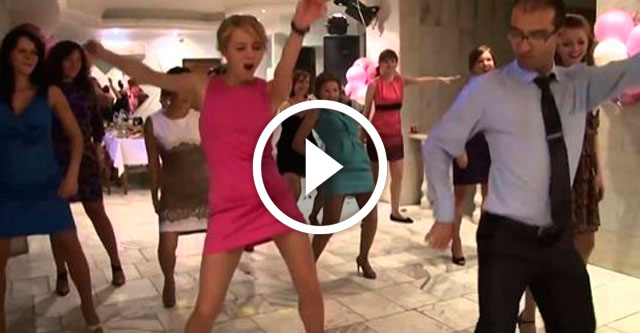 Весёлый танец на свадьбе