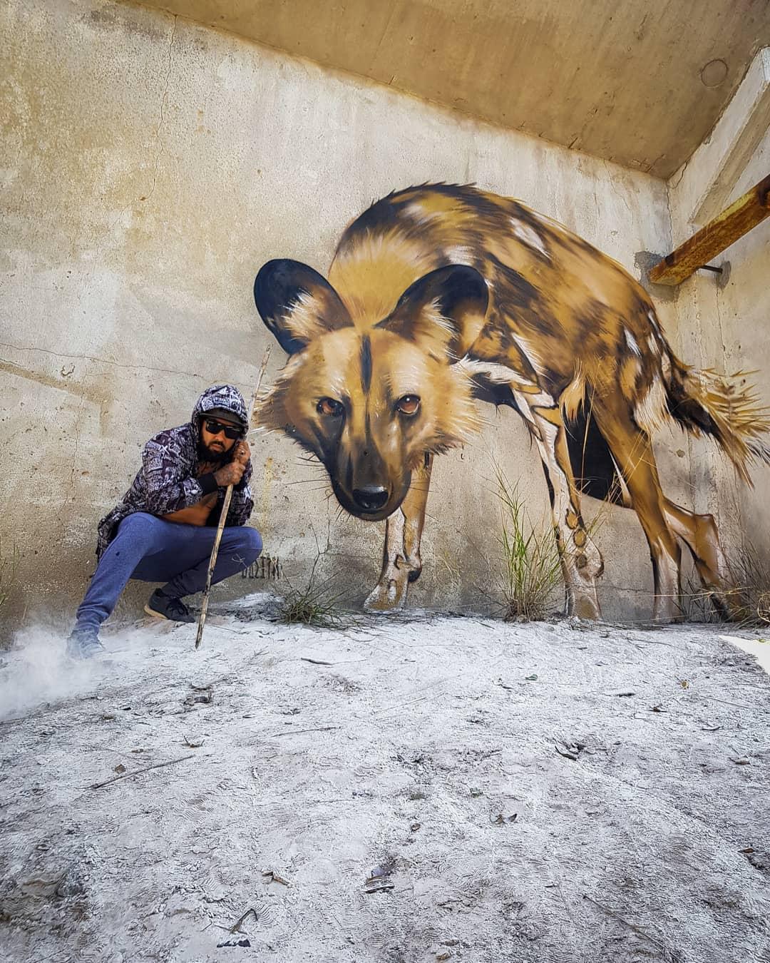20 работ художника, который превращает стены в реалистичные 3D-граффити