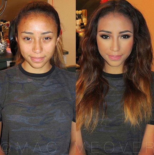 Чудесные перевоплощения с помощью макияжа
