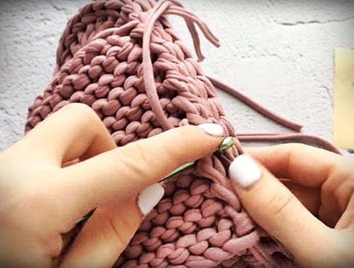 Пошаговая инструкция: тапочки из трикотажной пряжи своими руками