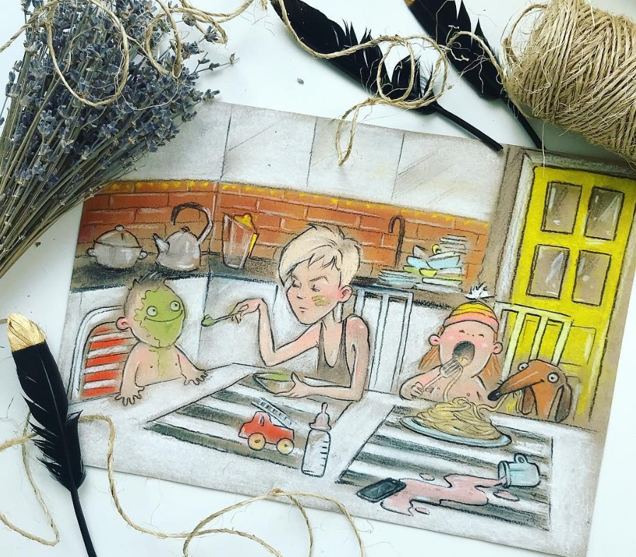Забавные комиксы о мамской жизни от талантливой художницы