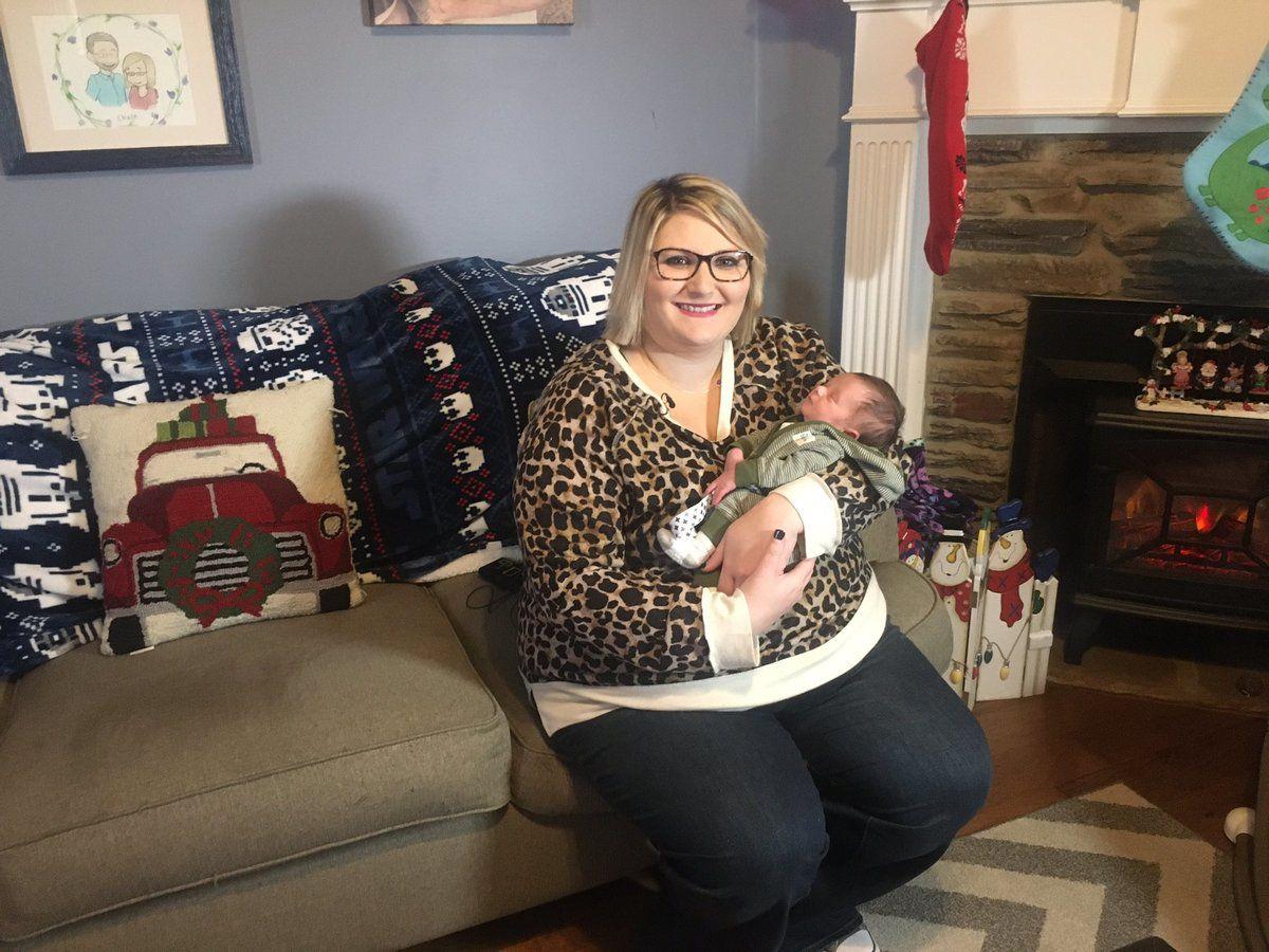 Женщина узнала, что беременна за 9 дней до рождения малыша