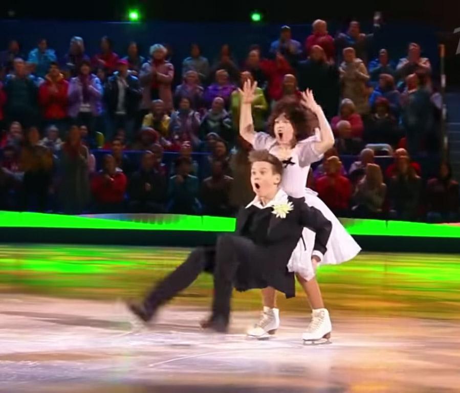 Зажигательный танец Полины и Мирона на льду