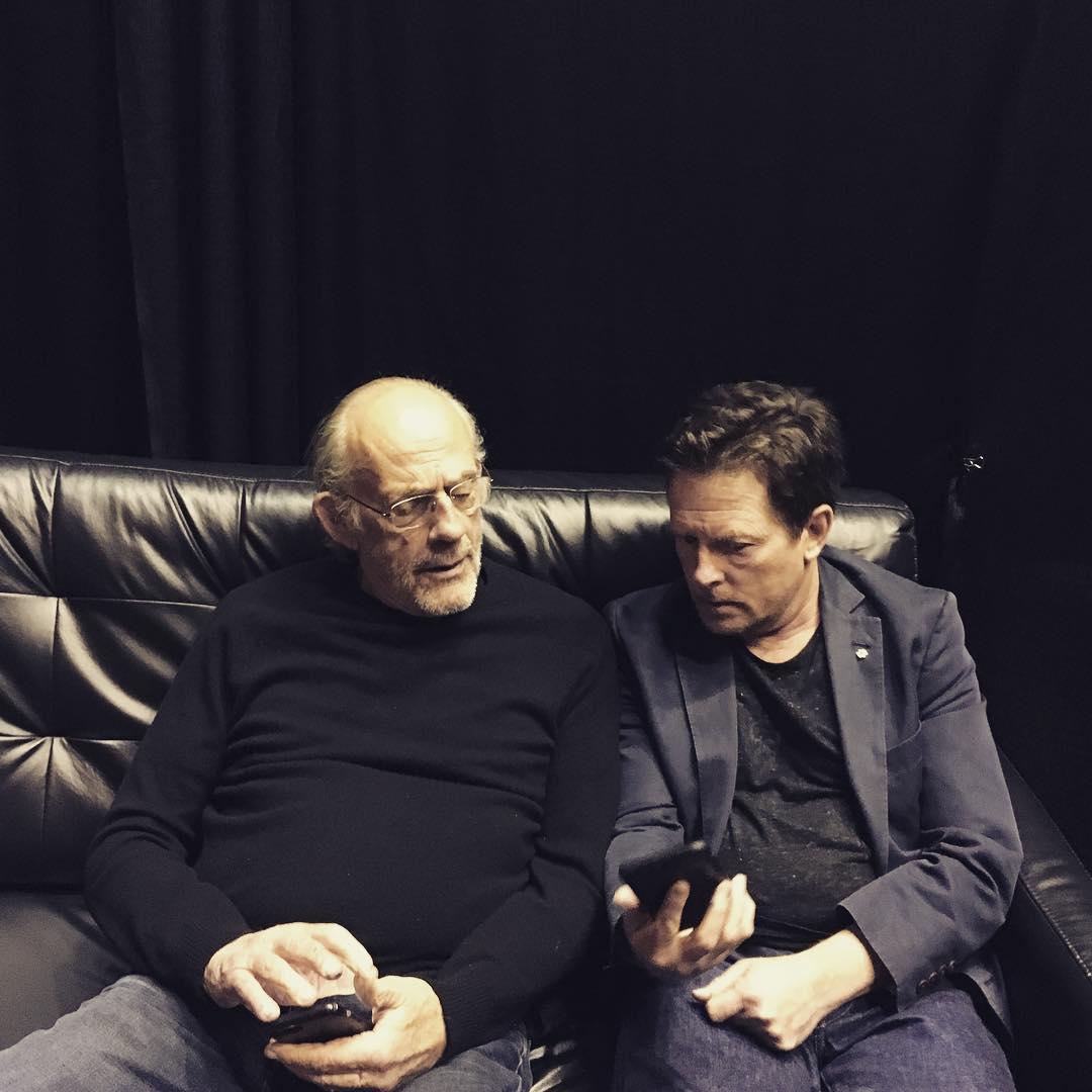 Док и Марти из «Назад в будущее» встретились спустя 35 лет после съемки первого фильма трилогии