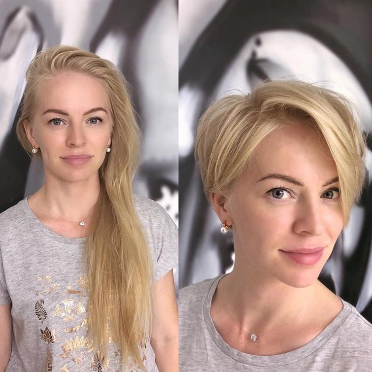 Как поменялась внешность девушек, которые решились на короткую стрижку