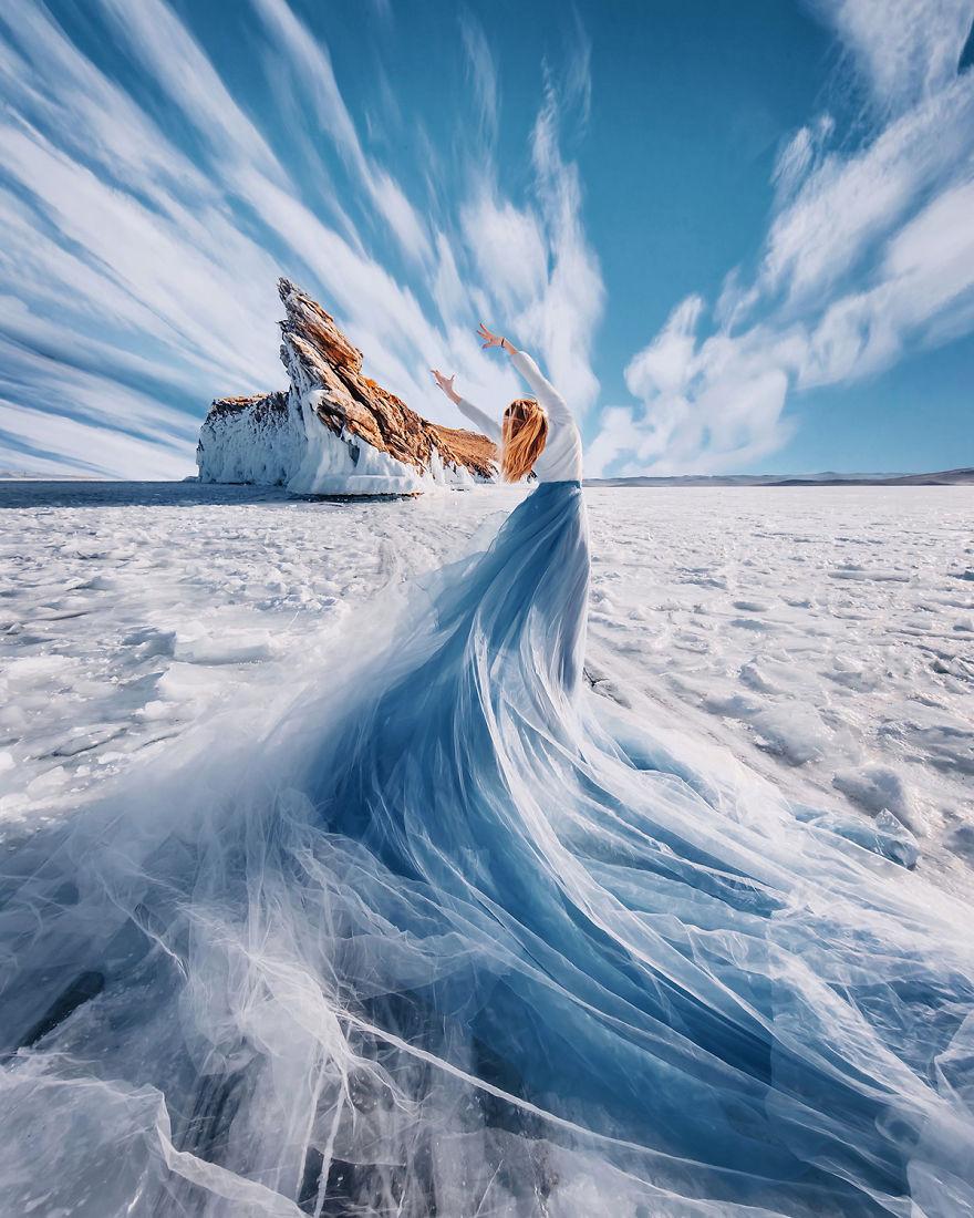 Невероятной красоты фотографии замерзшего озера Байкал от московского фотографа Кристины Макеевой