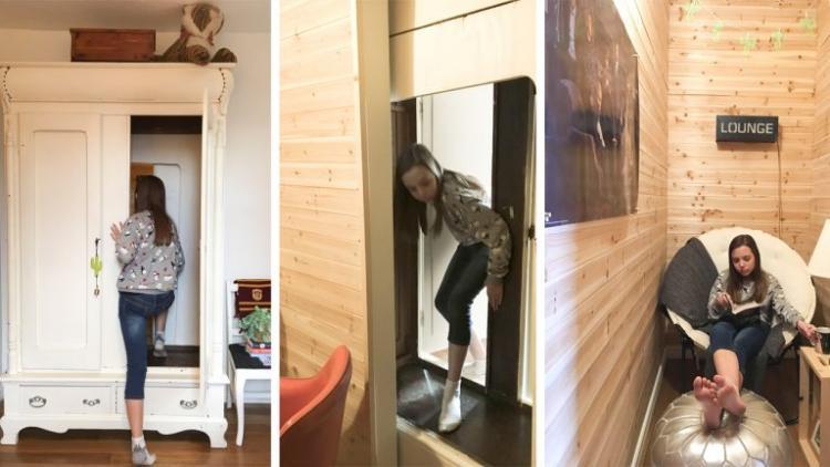 Нарния рядом: мама сделала потайную комнату для дочери прямо в платяном шкафу