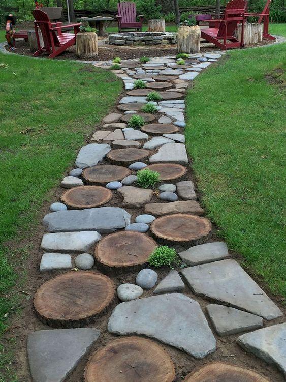 Несколько идей оформления садовых дорожек. То что нужно для уютного дворика!