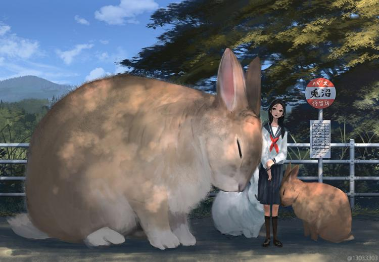 Japanese Illustrator Creates a World Of Giant Animals