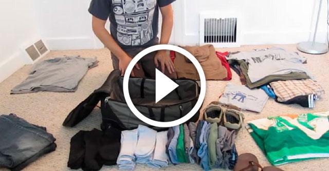 Лайфхак как правильно упаковать чемодан