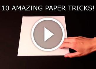 10 простых трюков с бумагой
