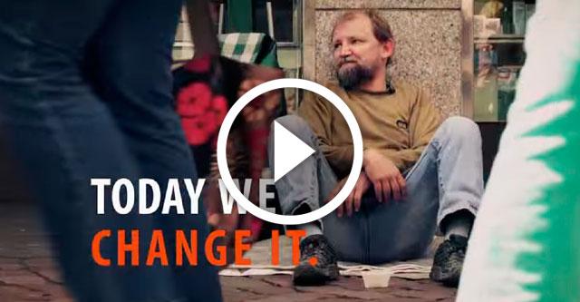 Социальное видео: бездомный