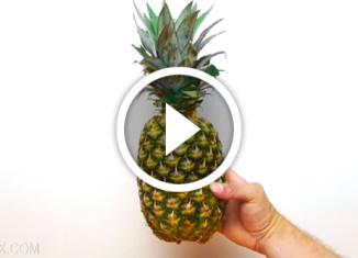 Лайфхак: как легко и быстро порезать ананас
