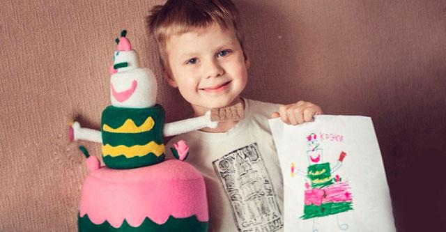 рисунки детей игрушки