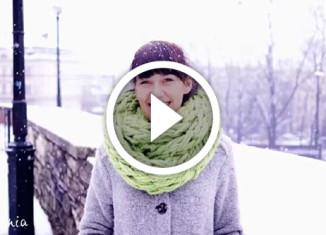вяжем шарф без спиц
