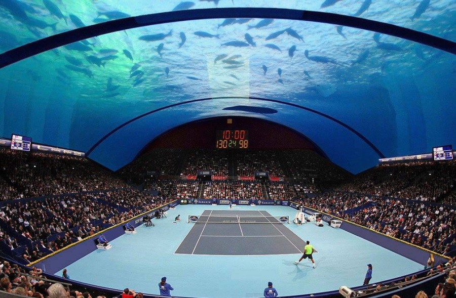 теннисный корт под водой