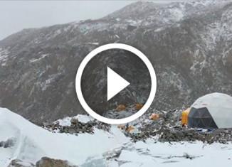 сход лавины глазами альпиниста