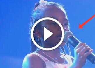 девочка исполняет хит Алиши Киз