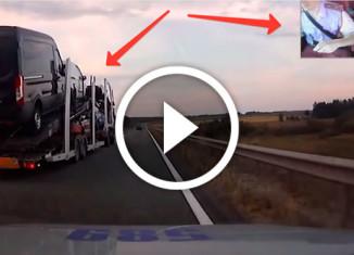 полиция гонится за грузовиком