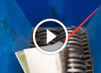 как работает промышленный шредер
