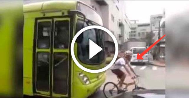 велосипедист довыпендривался