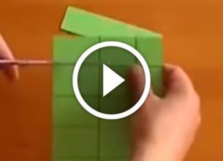 фокус с бумагой