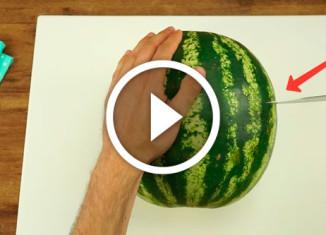 отличный способ нарезки арбуза