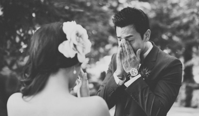 мужчины впервые увидели своих невест