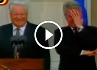 Ельцин рассмешил Клинтона