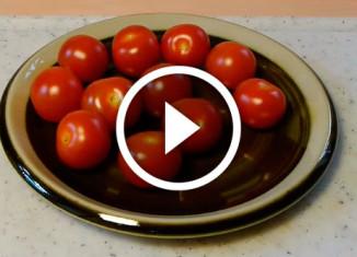 как быстро нарезать помидоры черри