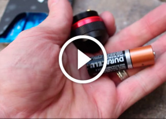 огонь с помощью батарейки