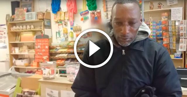 бездомному отдали лотерейный билет
