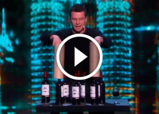 бутылки с вином из цилиндров