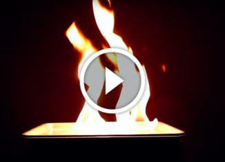 фокусы с огнем
