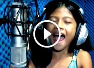 потрясающий голос маленькой девочки