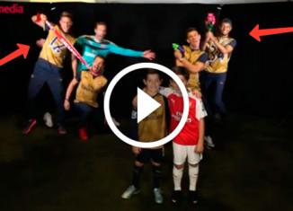 розыгрыш от футболистов Арсенала