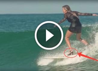 Серфингистка на каблуках