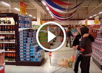 Землетрясение в супермаркете