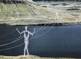 Линии электропередач в Исландии