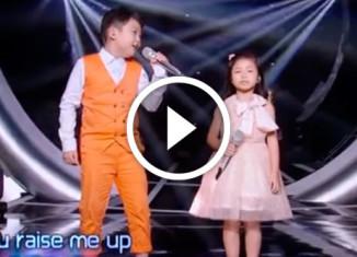Дети классно поют You Raise Me Up