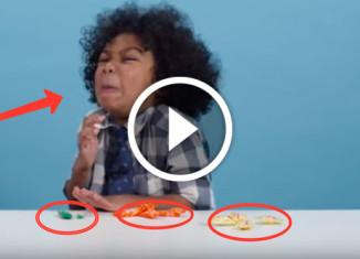 Американские дети пробуют импортные конфеты