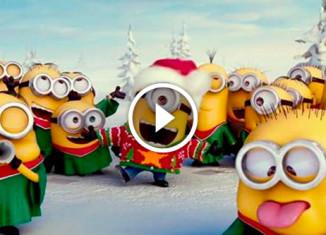 рождественская песня от миньонов