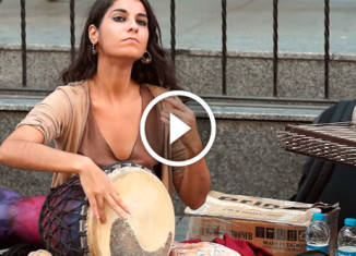 Восточные уличные музыканты