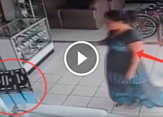 Женщина украла телевизор