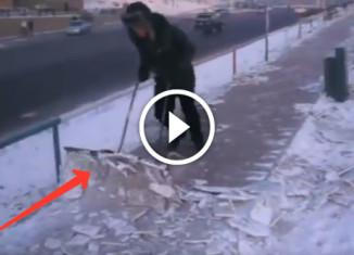 изобретение для чистки улиц от снега