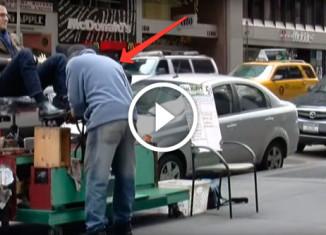 необычный чистильщик обуви