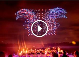 Световое шоу беспилотников