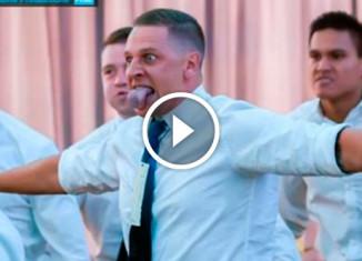Танец хака на свадьбе